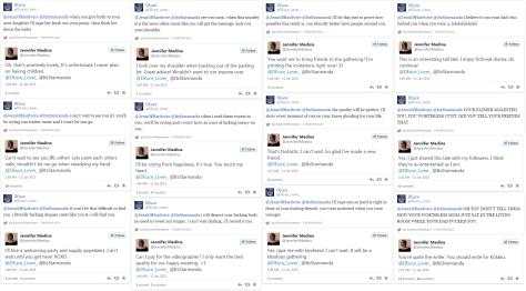 @DEuce_Lover_ harassment of @JennofHardwire aka @JenniferJMedina
