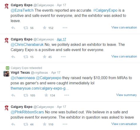 Calgary Expo Retweet