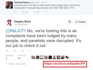 Calgary Expo Tweet